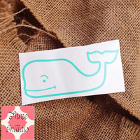 Whale monogram vineyard vines inspiration whale initials Car Decal Monogram Decal Monogram Vinyl Vinyl Decal Monogram Gift Monogram sticker