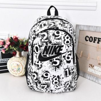 Nike Sport Hiking Backpack College School Travel Bag Day pack number White