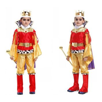 New Kids King Costumes Halloween Christmas Masquerade Party Arabic Prince Kids Fancy Dress Children Cosplay Costume For Boy