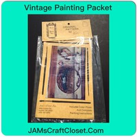 Vintage Painting Packet #3 Country Basket With Bunny and Rocking Horse