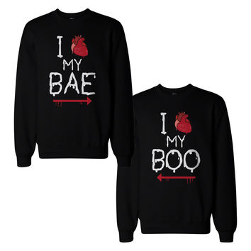 My Bae And Boo Couple Sweatshirts Halloween Matching Sweat Shirts