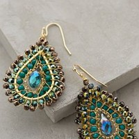 Sagittata Earrings by Anthropologie Green Motif One Size Earrings