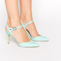 New Look Systematic Mint Green Strap Heeled Court Shoes