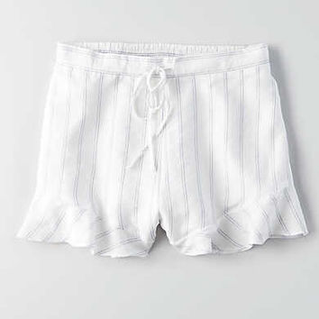 AEO Ruffled Soft Short , White