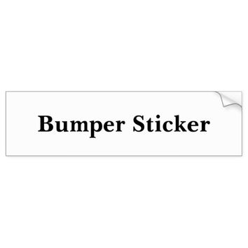 Personalized Bumper Sticker