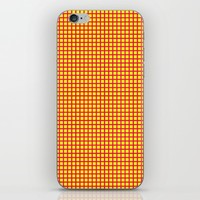 Pink On Yellow Grid iPhone & iPod Skin by Moonshine Paradise
