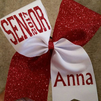 Senior 2017 cheer bow. Cheer bow. Bow. Senior. 2017. Senior bow. Glitter. Personalized name.  **Choice of colors**