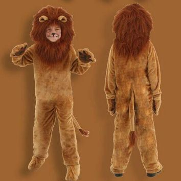 PEAPON 2016 Superior quality Deluxe Wizard of Oz Kids Animal Halloween Cosplay Fancy Dress Dinosaur Lion Costume Parent child clothing