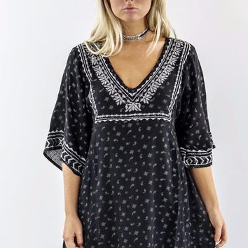 Dancing In The Dark Black Paisley Dress