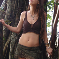 SALE!!!! Faerytale Top, Lace Top, Pixie, Faerie, Psytrance, Goa, Steampunk, Crop Top, Fairy, Tribal, Bohemian, Festival, Hippie,