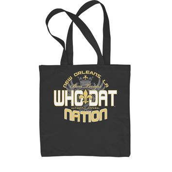 Who Dat Nation New Orleans (Color) Shopping Tote Bag