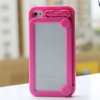 Amazon.com: Hoter Creative Drawing Board Protective Case for iPhone 4/4S - Hot Pink: Cell Phones & Accessories
