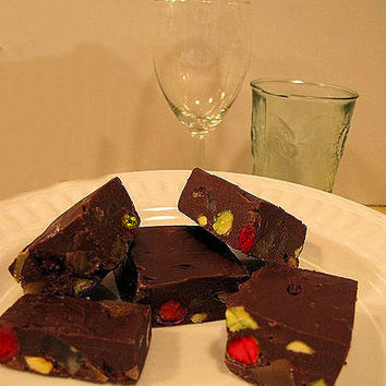 Mom's Fruited Fudge Square Recipe by arkiesrecipes on Etsy