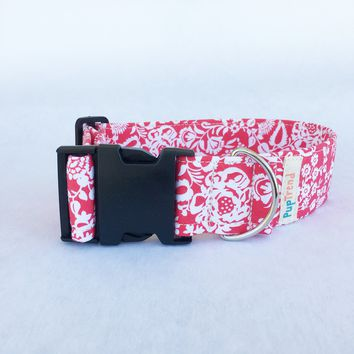 Coral Floral Cat & Dog Collar