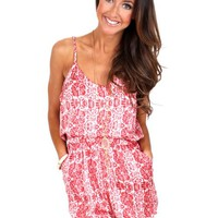Bright Side Of Life Coral Romper | Monday Dress Boutique