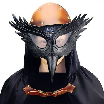 ESBON Vintage Steampunk Plague Bird Beak Doctor Masks Gothic Masquerade Ball Masks Retro Rock Punk Mask Halloween Cosplay Costume Prop