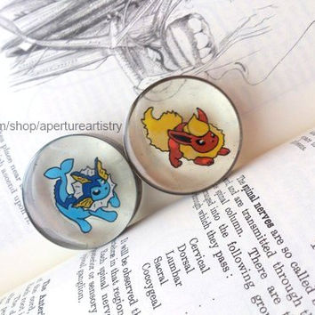 You pick the Pokemon, I draw them into plugs! Pokemon sprite plugs In sizes 10mm and above