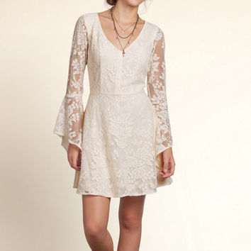 Seagrove Lace Bell Sleeve Dress