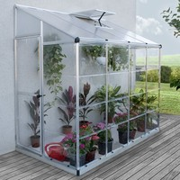Nature 4 Ft. W x 8 Ft. D Lean-To Greenhouse