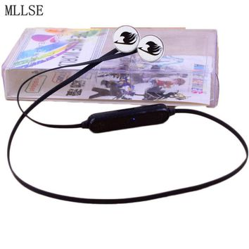 MLLSE Anime Fairy Tail Guild Bluetooth Headphones Wireless Earphones Sport Headset Bluetooth Earphone Stereo Earbuds for Phone