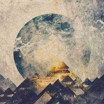 One mountain at a time Art Print by HappyMelvin