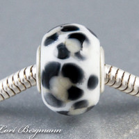 Snow Leopard European Charm Bead by LoriBergmann on Etsy