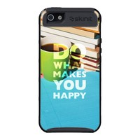Do What Makes You Happy, Coffee, books, and paper iPhone 5 Cases