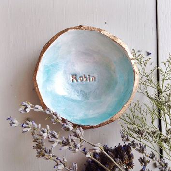 Personalized Ombré Jewelry Dish