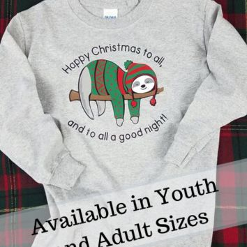 Sleeping Sloth Christmas Classic Tee