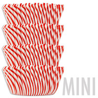 Mini Red Candy Stripe Baking Cups