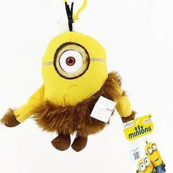 Minions Movie: Caveman Stuart Backpack Plush Backpack Clip Keychain