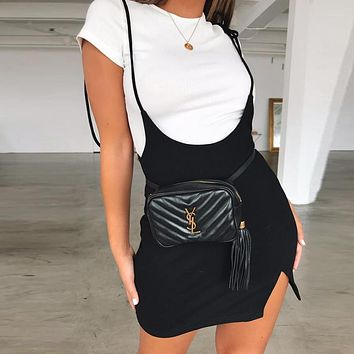 Sexy Solid Shoulder Strapes Lace Up Bandage Mini Dress 2018 Autumn Women Fashion Club Dresses