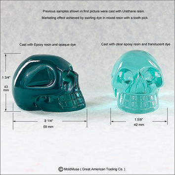 Large Skull Mold 3D Silicone Mould Crystal Skull for soap, resin, chocolate, polymer clay, wax (367)