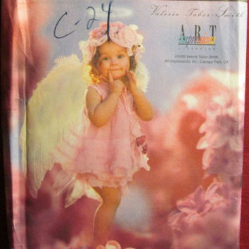 SALE Uncut Simplicity Sewing Pattern, 8833! Valerie Talor Smith/Infant Toddler/Girls Angel Costumes/Wings/Ruffled Tiered Dress/Panties/Slips