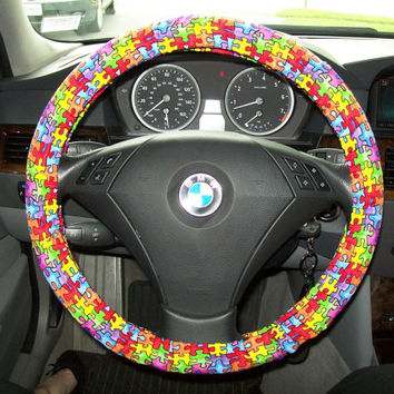 Autism Awareness Steering Wheel Cover