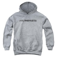 Hummer - Distressed Hummer Logo Youth Pull Over Hoodie