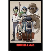 Gorillaz - Music Poster (All Here) (Size: 24