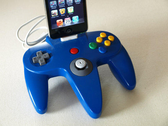 iPhone Dock Nintendo 64 Controller by GeekUnique on Etsy