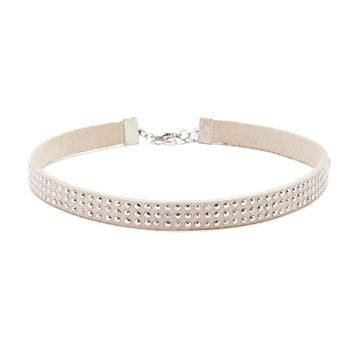 Faux Leather Studded Choker