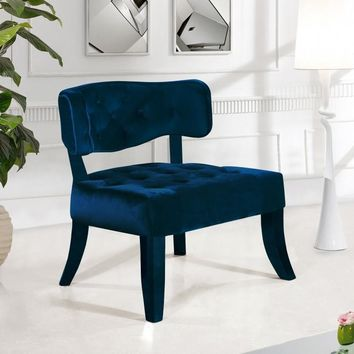 Charlotte Navy Velvet Accent Chair