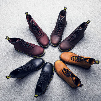 On Sale Hot Deal Leather Dr. Martens Flat Shoes Winter Couple Boots [9553598090]