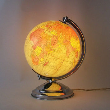 $140.00 vintage lighted globe replogle world globe by RecycleBuyVintage