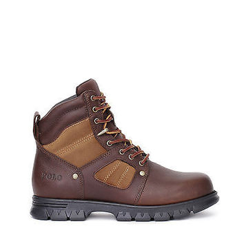 Polo Ralph Lauren Mens Casual Boots Diego P Tan/Tan Leather