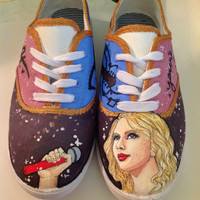 Taylor Swift hand painted shoes