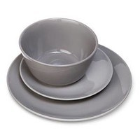 Coupe 12pc Dinnerware Set Gray - Room Essentials™