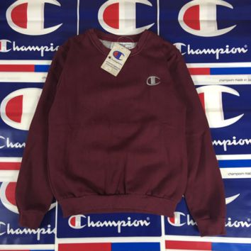 Trendy Champion Embroidered Loose Unisex Pullovers Sweaters