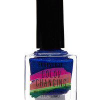 Blue Color Changing Nail Polish
