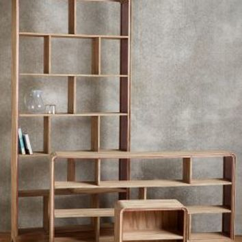 Rose Glass Collection by Tracey Boyd Neutral Low Bookcase House & Home