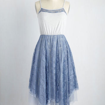 Ryu Long Time No Whimsy Dress in Cornflower | Mod Retro Vintage Dresses | ModCloth.com