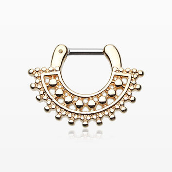 Golden Divine Filigree Septum Clicker